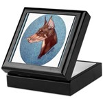 Red Doberman Pinscher Keepsake Box