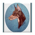 Red Doberman Pinscher Tile Coaster