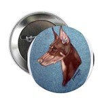 Red Doberman Pinscher Button