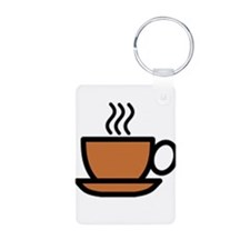 Hot Cup of Coffee Keychains