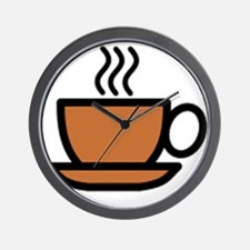 Hot Cup of Coffee Wall Clock