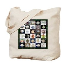 30 Teapots Tote Bag, printed both sides