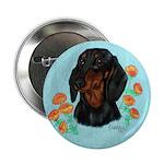 Black and Tan Dachshund Button