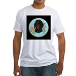 Black and Tan Dachshund Fitted T-Shirt