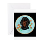 Black and Tan Dachshund Greeting Cards (Package of