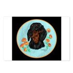 Black and Tan Dachshund Postcards (Package of 8)