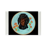 Black and Tan Dachshund Rectangle Magnet (10 pack)