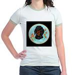 Black and Tan Dachshund Jr. Ringer T-Shirt