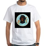 Black and Tan Dachshund White T-Shirt