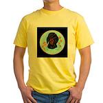 Black and Tan Dachshund Yellow T-Shirt