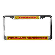 Certified Pharmacy Technician License Plate Frame
