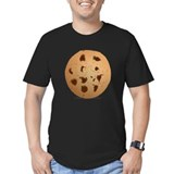 Chocolate chip cookie Fitted T-shirts (Dark)