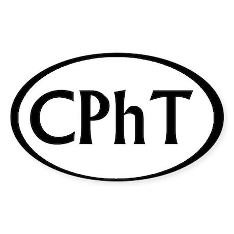 CphT 1 Oval Sticker