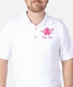 Personalized Pink Ribbon T-Shirt