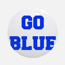 go-blue-fresh-blue Ornament (Round)
