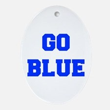 go-blue-fresh-blue Ornament (Oval)