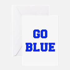 go-blue-fresh-blue Greeting Cards