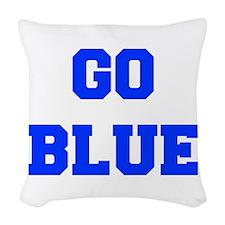 go-blue-fresh-blue Woven Throw Pillow