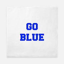 go-blue-fresh-blue Queen Duvet