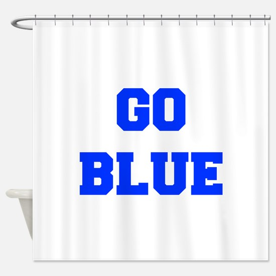 go-blue-fresh-blue Shower Curtain