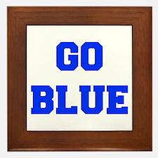 go-blue-fresh-blue Framed Tile