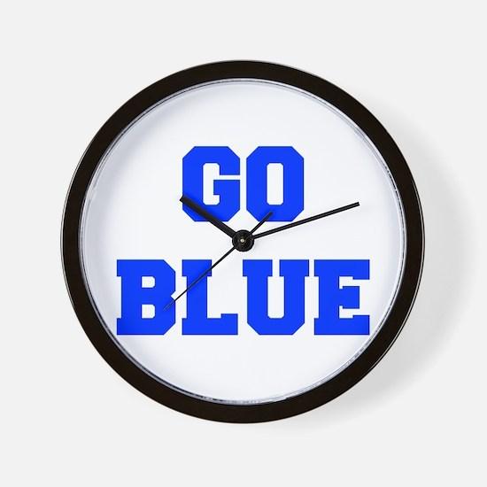 go-blue-fresh-blue Wall Clock