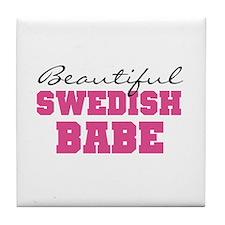 Swedish Babe Tile Coaster
