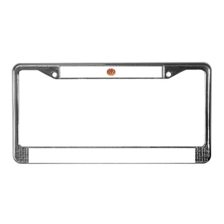Chocolate Frosted Donut License Plate Frame
