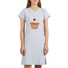 Frosted Cupcake with Cherry Women's Nightshirt