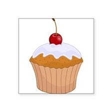 Frosted Cupcake with Cherry Sticker