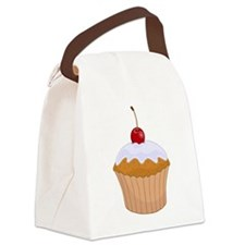 Frosted Cupcake with Cherry Canvas Lunch Bag