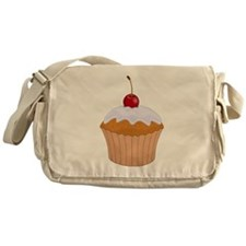 Frosted Cupcake with Cherry Messenger Bag