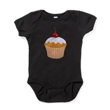 Frosted Cupcake with Cherry Baby Bodysuit