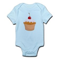 Frosted Cupcake with Cherry Body Suit
