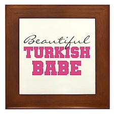Turkish Babe Framed Tile
