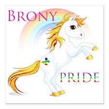 "Brony Pride Square Car Magnet 3"" x 3"""