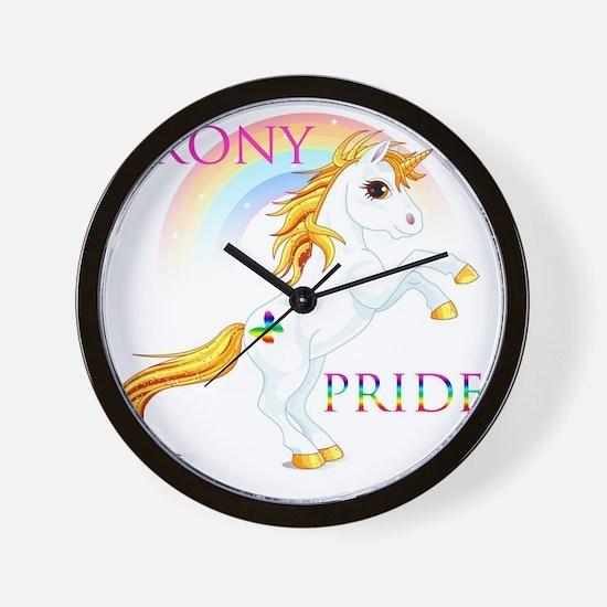 Brony Pride Wall Clock