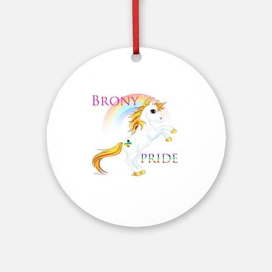 Brony Pride Round Ornament