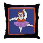 The Bullarina Throw Pillow