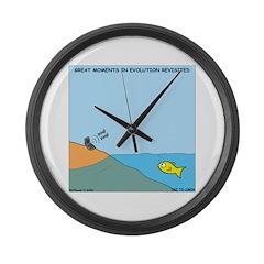 Evolution Large Wall Clock