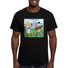 Domino Republic Men's Fitted T-Shirt (dark)
