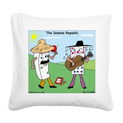 Domino Republic Square Canvas Pillow