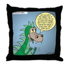 Dragon Kid Throw Pillow