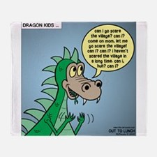 Dragon Kid Throw Blanket