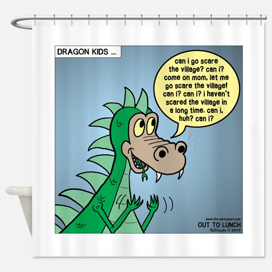 Dragon Kid Shower Curtain