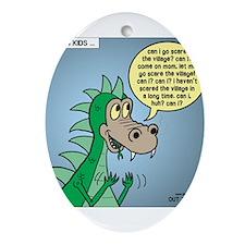 Dragon Kid Ornament (Oval)