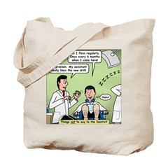 Dentists and Flossing Tote Bag