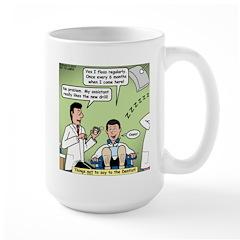 Dentists and Flossing Large Mug