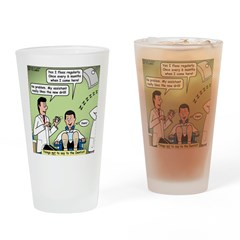 Dentists and Flossing Drinking Glass