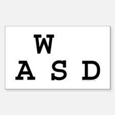 WASD Rectangle Decal